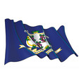 waving flag state connecticut vector image