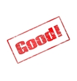 a red stamp is good vector image