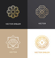 abstract logo design templates in golden colors vector image