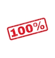 100 Percent Text Rubber Stamp vector image vector image