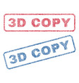 3d copy textile stamps vector image vector image