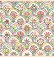Abstract seamless pattern in doodle style