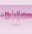 adelaide v2 skyline in purple radiant orchid vector image vector image