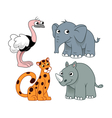 african animals set two vector image