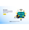 big data concept icon with character people vector image