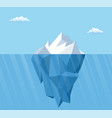 big iceberg floating on water vector image