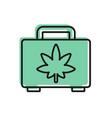 black line shopping box medical marijuana or vector image vector image