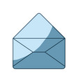 blue shading silhouette of envelope mail opened in vector image vector image