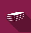 books icon with long shadow vector image vector image
