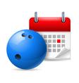 Bowling ball and calendar vector image vector image