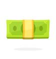 bundle paper money in flat style vector image