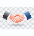 business people handshake isolate vector image