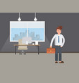 business power concept businessman standing in vector image vector image