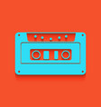 cassette icon audio tape sign whitish vector image