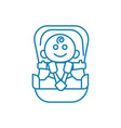 child car seat linear icon concept child car seat vector image vector image