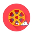 Cinema film movie reel icon vector image