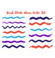 cool brush stroke waves set vector image vector image