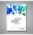 Cover report triangle geometric prospectus design