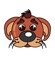 dog mascot cartoon isolated icon vector image vector image