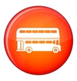 Double decker bus icon flat style vector image