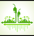 Ecology concept with eco pump vector image vector image