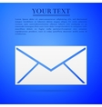 Envelope flat icon on blue background Adobe vector image vector image