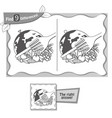 find 9 differences game food peace vector image vector image