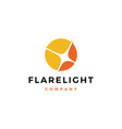 flare light logo icon download flare light logo vector image vector image