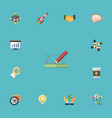 flat icons agreement support design and other vector image vector image