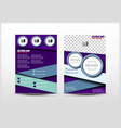 flyer design simple templates purpel color vector image vector image