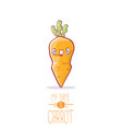 funny cartoon cute carrot character vector image