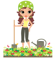 girl the gardener vector image vector image