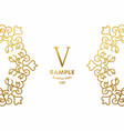 golden luxurious logo frame golden on white vector image vector image