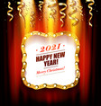 happy new year 2021 background vector image vector image