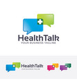 health talk logo design vector image