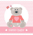 helllo bacard with bear on pink vector image vector image