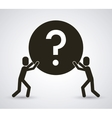 Help design Question mark icon Flat vector image vector image