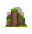 high stone rocks in summer season outdoor design vector image