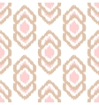 Ikat seamless pattern Abstract geometric vector image vector image