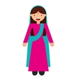 indian woman culture icon vector image