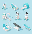 isometric medical equipment hospital diagnostic vector image vector image