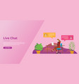 live chatting technology for website template ui vector image vector image