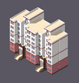 low poly town apartment building vector image