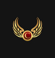 luxury letter c emblem wings logo design concept vector image vector image