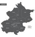 map beijing district vector image vector image