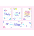 mother day cute label and greeting card set vector image