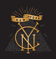 new york t shirt apparel fashion print tee vector image vector image