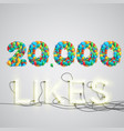 number of likes made by balloon vector image vector image