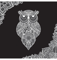 ornamental owl Bird vector image