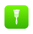 paint brush icon digital green vector image